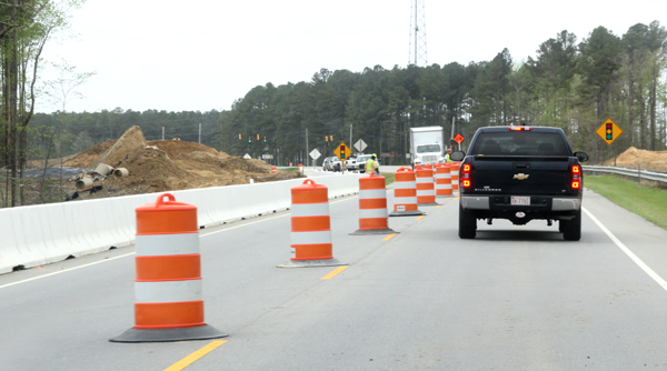 A new proposal for funding transportation projects in North Carolina will not impact those already underway, including improvements to US 158 and US 13 in Hertford and Gates counties as shown in this photo. Staff Photo by Cal Bryant