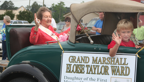Eloise Taylor Ward served as the Grand Marshall of the Conway Centennial Parade. Mrs. Ward is the daughter of the incorporated town's first mayor, J.E. Taylor. Staff Photo by Amanda VanDerBroek