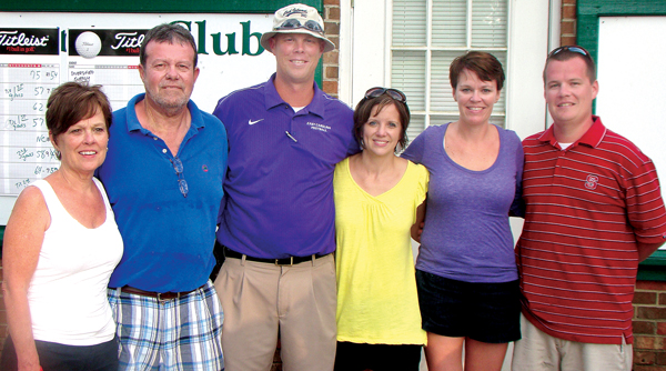 Those at the forefront of aiding Henry Hodges in his ongoing battle against cancer are, from left, his grandparents, Jeanette and Ricky Hodges; his uncle and aunt, Brandon and Anna Hodges; his aunt, Nikki Carlyle; and his father, Chris Hodges. Contributed Photo