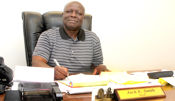 Jack E. Smith, retired from the North Carolina Highway Patrol and Nash County Sheriff's Office, now serves as interim Sheriff of Northampton County. Staff Photo by Cal Bryant