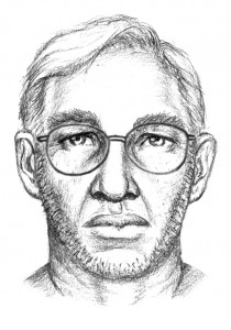 An artist's sketch of a man wanted in connection with a child abduction in Isle of Wight County, VA shows him with and without glasses.