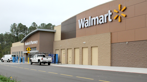 The new Walmart Super Center, located on US 13 just south of the current store, is scheduled to open at 7:30 a.m. on Wednesday, Oct. 23 following a ribbon-cutting ceremony. Staff Photo by Cal Bryant