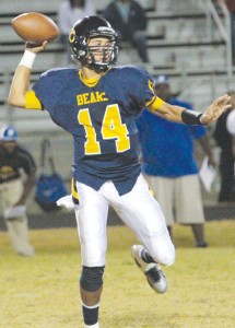 Ryan Weaver's 3,103 career passing yards set a new record for quarterbacks at Hertford County High School. Dynamic Photo / William Anthony