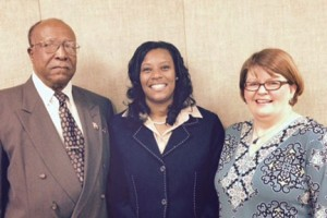 Brenda Brown (center), the new Hertford County Social Services Director, is shown with DSS Board Chair Anita Thompson, and board member Carl White. Contributed Photo