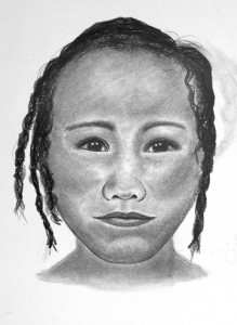 Diana Trepkov of Canada, a Certified Forensic Artist, created these likenesses of Phyllis Lorrain Powell as a child and as an adult.