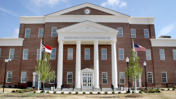 For the fifth time in the past 256 years, Hertford County has opened a new courthouse….this one located just west of Winton off US 158. Staff Photo by Cal Bryant