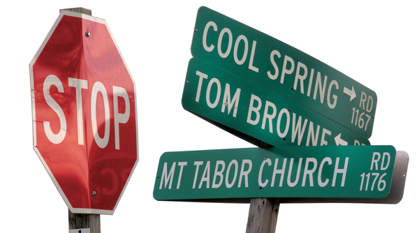 Mt. Tabor Church Road in Hertford County has been renamed Tall Cotton Road. Staff Photo by Cal Bryant