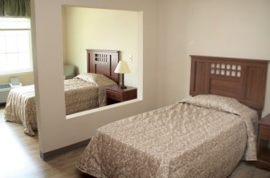 The new facility features several wings of bedrooms capable of accommodating 70 residents. Staff Photo by Cal Bryant