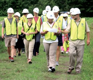 A walking tour of the expansive facility was held last week, attended by Gates County local government officials as well as interested county citizens. Staff Photo by Cal Bryant