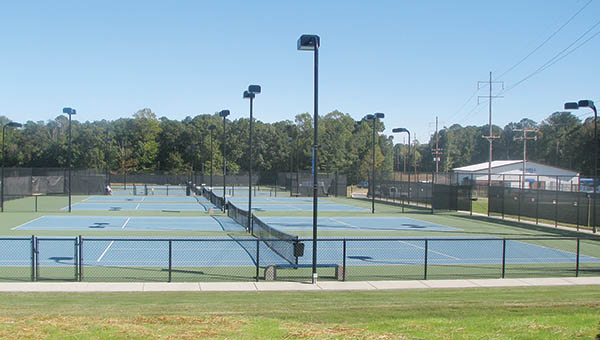 The newly dedicated Rose Family Tennis Complex at Chowan University features eight, world-class courts, an open air patio, restrooms and a storage area. | Staff Photo by Keith Hoggard
