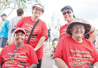 Laverne Gatling and Herbert Yanke (both seated) were taken on a tour of Disney World by their Creekside Health and Rehabilitation Center escorts, Carolyn Pierce (back left) and Kristi Jordan. | Contributed Photo