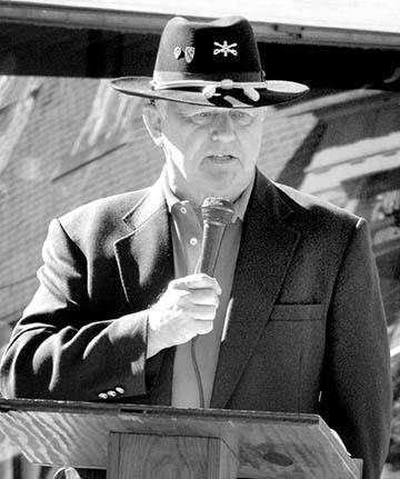 Retired Master Sgt. Rossie M. Nance Jr., State Commander of the North Carolina Vietnam Veterans Association, served as the keynote speaker at Wednesday's Veterans Day ceremony in Ahoskie.