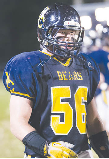 Hertford County High School lineman Ian Andrew New has been chosen to play in the Blue-Grey All American Bowl for high school seniors Jan. 16 at EverBank Field, the NFL Jaguars' Stadium in Jacksonville, FL.  | Photo by Gina Hoggard