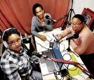Members of the Sistanomics Podcast are, from left, Joan Sharpe McCullough, Tonza Ruffin Buffaloe, and Assata Buffaloe. Contributed Photo