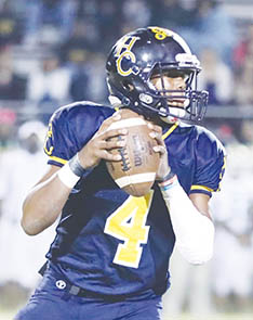Hertford County quarterback Lance Hunter scored the game-winning touchdown last week in High Point.  Friday night Hunter will lead the Bears into the 2AA East semi-finals against East Duplin in Beulaville. | Dynamic Photo / William Anthony