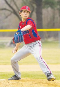 Here Smith pitches in relief in a game against Lawrence Academy last spring. |  2nd/Chance Productions / Andre Alfred