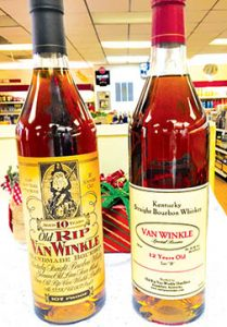 Two rare, select whiskeys will go on sale soon at the Bertie County ABC store in time for the holidays. It's the first time such specialty spirits have been available in northeastern North Carolina. | Photo courtesy of Bertie Co. ABC