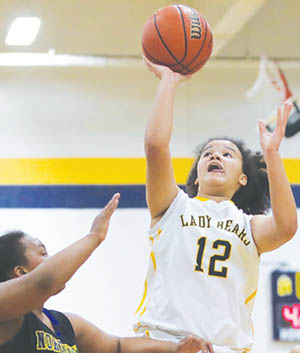 Ashlee Weaver scored 11 points for Hertford County as the Lady Bears won their second game of the season, 62-39, over Northwest Halifax on Tuesday night.   Dynamic Photo / William Anthony
