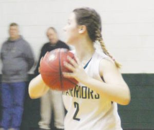 Lawrence Academy's Gracen Rogers scored 14 points Friday night as the Lady Warriors continued their hold on first place in the TIC with a 56-47 win over Terra Ceia. | Staff Photo / Gene Motley