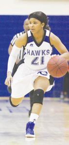 Chowan's Courtni Williams led five Lady Hawks players in double figures, scoring a game-high 16 points, as Chowan upset NCAA D2 second-ranked Virginia Union 79-75 Saturday in Richmond in CIAA Northern Division action. | Photo by Qwi'Wania Miller