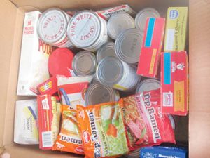 Shown here is just one of numerous boxes of food that was delivered during Christmas of 2016 to a needy family in the R-C area. Other items delivered included hams and turkeys.